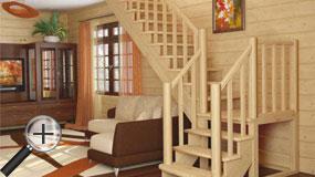 Лестницы из бука К-022м