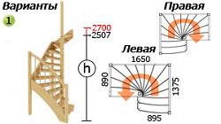 Лестница для дачи ЛС-04м