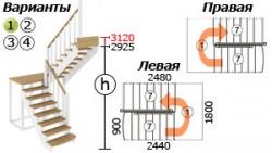 Лестницы из бука ЛС-04м