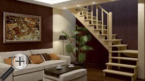 Лестницы из бука К-031м
