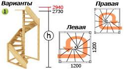 Лестница ЛС-1.2х м