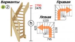 Лестница для частного дома ЛС-91м