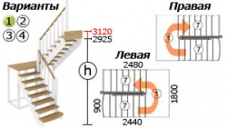 Лестницы из бука К-004м