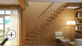 Лестницы из бука К-008м