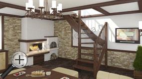 Лестница для частного дома ЛС-09м